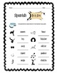 Spanish Body Parts Worksheet Packet