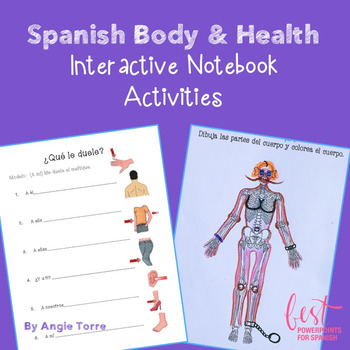 Spanish Body and Health Interactive Notebook Activities