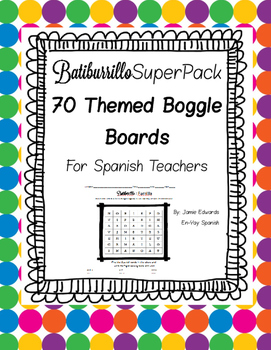Spanish Boggle Super Pack 1 Batiburrillo 70 game boards