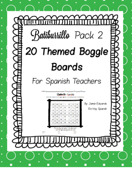 Spanish Boggle Theme Pack 2 Batiburrillo
