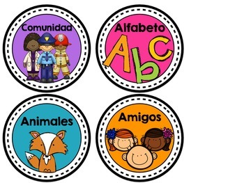 Spanish Book Bin Labels