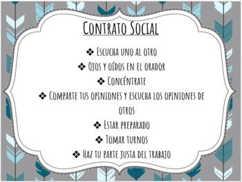 Spanish Book Club Menu