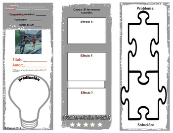 """Desastre Iminente"" Spanish Reading Comprehension Trifold"