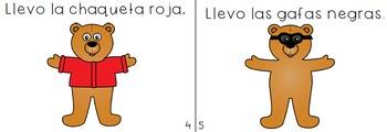 Spanish Booklet & Little Reader- El osito y su ropa -  2 VERSIONS!!!
