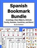 Spanish Bookmark Bundle - Greetings, Family, Numbers, Countries and More!