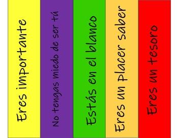 Spanish Bookmarks