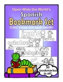 Spanish Bookmarks - Color a New One Each Month!