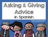 Spanish Bookmarks & Posters for asking and giving advice i