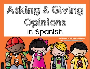 Spanish Bookmarks & Posters for asking and giving an opinion