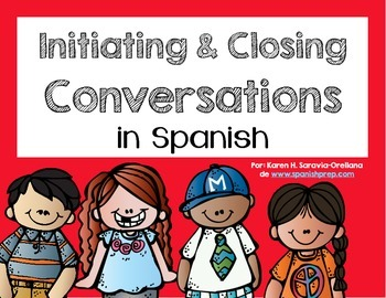 Spanish Bookmarks & Posters for initiating and closing a conversation