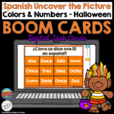 Spanish Boom Cards Uncover the Picture - Halloween Colors