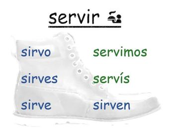 Spanish Boot Verb Bulletin Board/Word Wall Kit