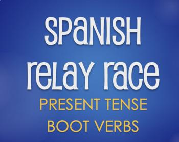 Spanish Boot Verb Relay Race