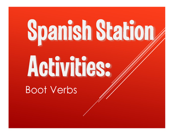 Spanish Boot Verb Stations