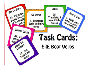 Spanish E-IE Boot Verb Stations