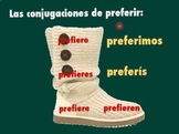 Spanish Boot Verb (Stem-Changing) PowerPoint Review