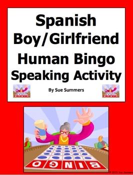 Spanish Boyfriend / Girlfriend Human Bingo Game Speaking Activity & Follow-Up