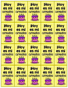 Spanish Brag Tag Freebie