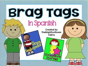 Spanish Brag Tags- Etiquetas de Logros!