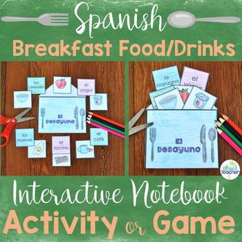 Spanish Breakfast Food and Drink Interactive Notebook Activity or Game