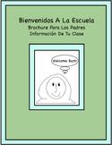 Spanish Brochure De Bienvenida A Clases (Editable)