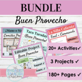 Spanish Buen Provecho Food Vocab Bundle