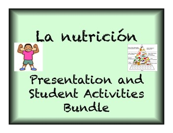 Spanish Buena Salud Presentation and student activities bundle