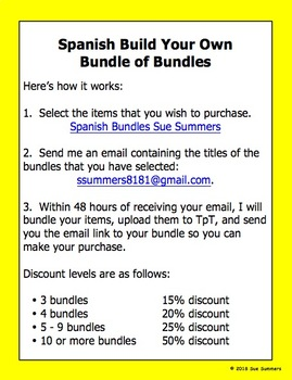 Spanish Build Your Own Bundle of Bundles - Spanish Bundle