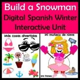 Spanish Build A Snowman - Creative & Fun Winter Activity - Ropa, Cuerpo, Colores