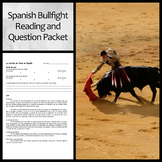 Spanish Bullfight Reading and Questions