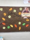 Spanish Bulletin Board Día de Acción de Gracias Thanksgiving