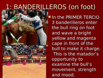 Spanish Bullfighting Powerpoint