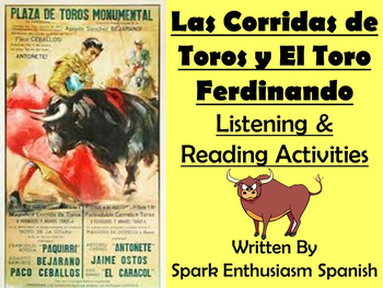 Spanish Bullfighting and El Toro Ferdinando Listening and Reading Activities