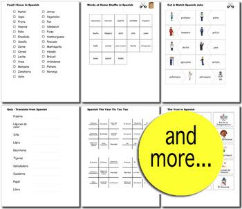Spanish Bundle for Smart Teachers: 10 beginner units & ☆147+☆ NO PREP printables