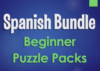 Spanish Bundle:  Beginner Puzzle Packs