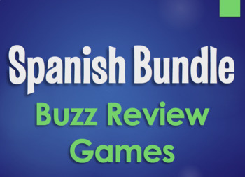 Spanish Bundle:  Buzz Review Games