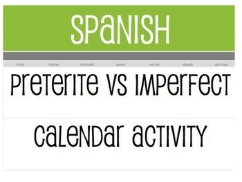 Spanish Bundle:  Calendar Activities