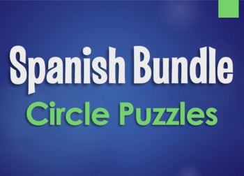 Spanish Bundle:  Circle Puzzles