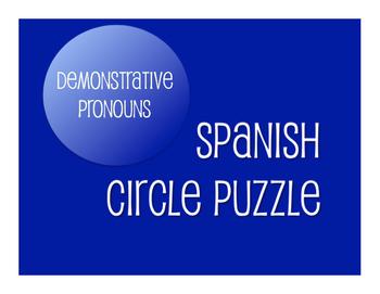 Spanish Bundle: Demonstrative Pronouns
