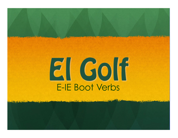 Spanish Bundle:  E-IE Boot Verbs