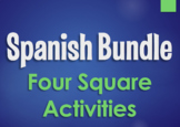 Spanish Bundle:  Four Square Activities