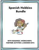 Spanish Hobbies Bundle - Los pasatiempos (4 Worksheets + 2