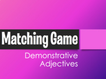 Spanish Bundle:  Matching Games