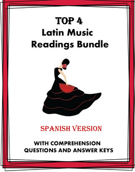 Música y baile Lecturas - Latin Music and Dance Bundle - 6 Readings!