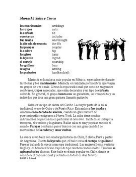 Música y Baile Lectura y Cultura: Latin Music and Dance Bundle: 5 Readings!