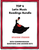 Música y Baile Lecturas: Latin Music & Dance Bundle: 5 Readings @40% off!
