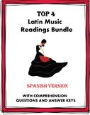 Música y Baile Lecturas: Latin Music & Dance Bundle: 4 Readings @30% off!
