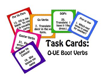 Spanish Bundle:  O-UE Boot Verbs