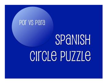 Spanish Bundle:  Por Vs Para