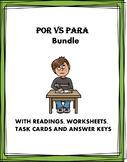 Por and Para Spanish Mini Bundle: 4 Resources!